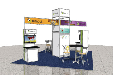 All booth graphics and installations - Intacct